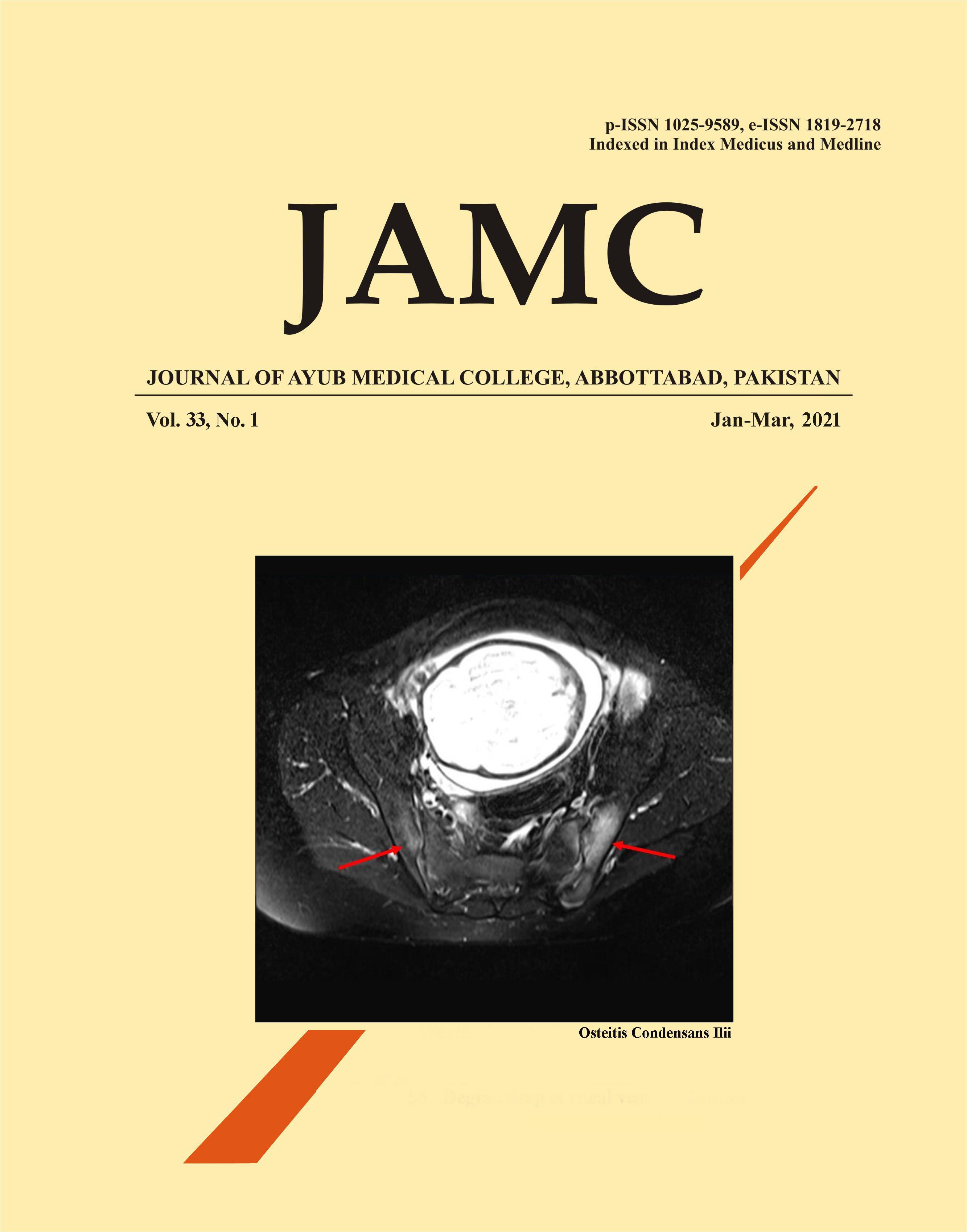 View Vol. 33 No. 1 (2021): Journal of Ayub Medical College, Abbottabad